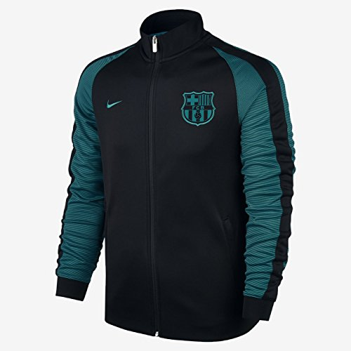 Men's FC Barcelona 2016-2017 N98 Anthem Track Jacket Black – DiZiSports Store
