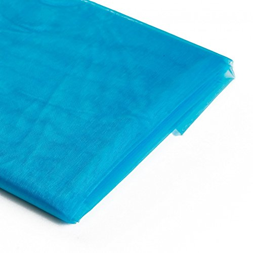 Koyal Wholesale 10-Yard Sheer Organza Fabric Bolt, 58-Inch, Turquoise / Aqua Blue - Aqua Blue Chiffon