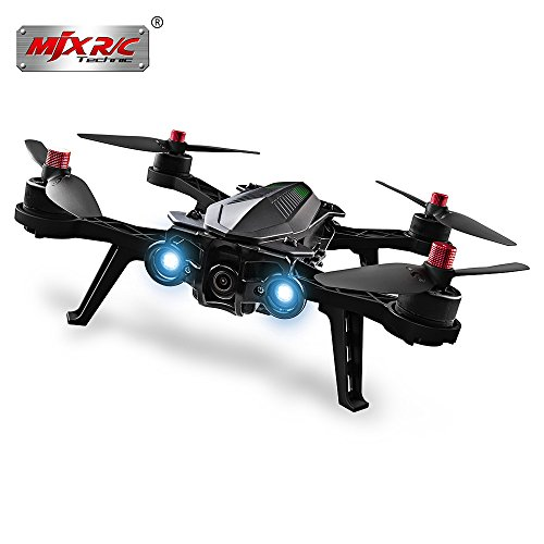 MJX Bugs 6 250mm 6 Axis Gyro RC Drone Brushless Racing Quadcopter, 2.4GHz 4CH Transmitter - RTF - Black with Camera