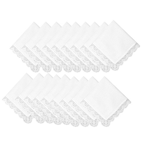 Wedding Lace Cotton Handkerchiefs (Monogrammed Wedding Hankie)
