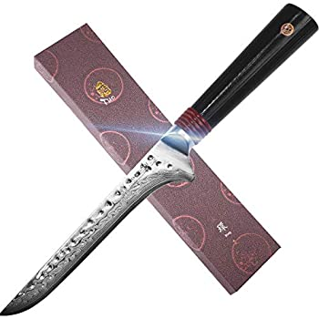 Amazon.com: TUO - Cuchillo para cubiertos (acero de Damasco ...