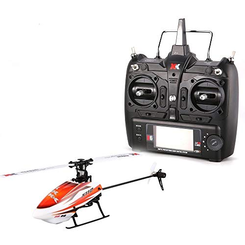 ElevenY K100 6CH 3D 6G System Mini Brushless RC Remote Control Helicopter Drone with 3D Upside Down Flight Stunt RTF for Kids Gifts - Rechargeable Electric Helicopter
