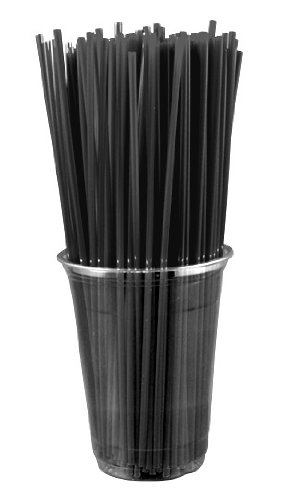 Collins Straws - BLACK (Box of 500)