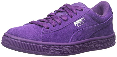 PUMA Suede Jr Classic Kids Sneaker (Little Kid/Big Kid), Imperial Purple/Imperial Purple, 5.5 M US Big Kid