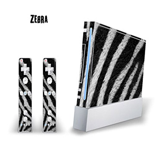 MightySkins Skin Decal Cover for Nintendo Wii Console + two Wiimote Controllers Sticker- Zebra