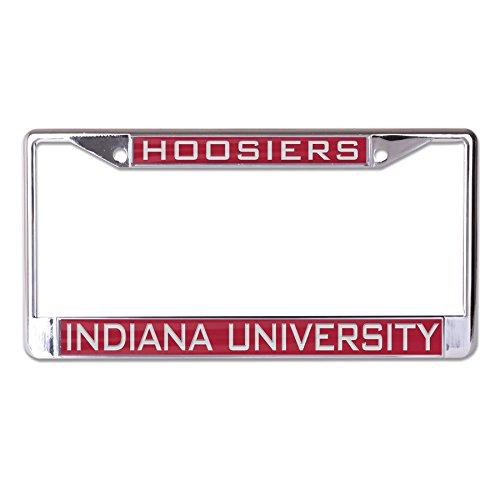 Indiana Hoosiers Metal (WinCraft NCAA Indiana Hoosiers Inlaid Metal License Plate Frame, 2-Tag Corners)