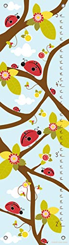 Oopsy Daisy Growth Charts Ladybug Branches Blue by Finny and Zook, 12 by 42-Inch ()