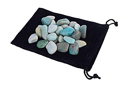 Zentron Crystal Collection: 1 lb Tumbled Amazonite in Velvet Bag