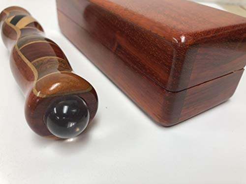 N & J Kaleidoscope Teleidoscope in Padauk Wood, 5 1/2 Inch Barrel, Inlaid Hardwoods of Padauk, Teak, Ebony, and Jalneem, Wood Presentation Box by N & J (Image #1)