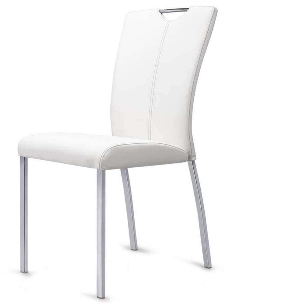 White FENG Fan Dining Chair Modern Minimalist Nordic Restaurant Chair Home Stool Chair Wrought Iron Leather Dining Chair (color   Khaki)