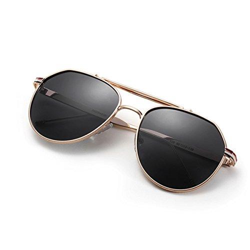 de Hombres Sol conducción Clasico Sapo de de KOMNY de Sheet de Gold de de Chapa 9481yj004 Gafas Gafas los Ceniza Oro Marco Frame Sol Ash 8ywYpE