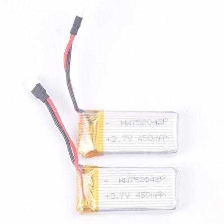 2pcs 3.7V 450mAh Battery for Udi U941 U941A U941 U943 RC quadcopter drone spare parts