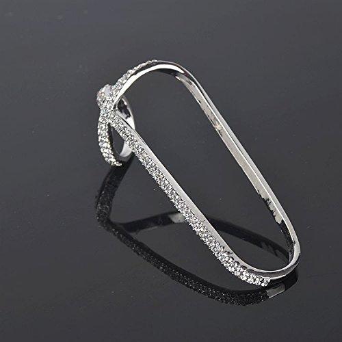 Harness Cuff (MagiDeal Fashion Crystal Palm Bracelet Bangle Cuff Ring Wedding Hand Ring Bracelet)