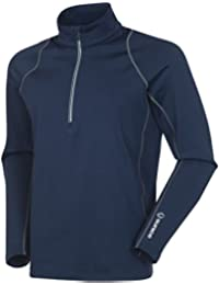Tobey UltraliteFX Stretch Half-Zip Pullover Midnight/Charcoal Large
