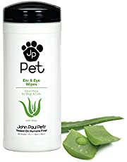John Paul Pet Ear and Eye Pet Wipes for Dogs and Cats, Infused with Aloe, 7
