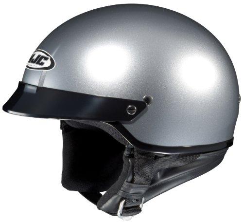 Half-Helmet (Silver, Small) (Saddlebag Interior Light)