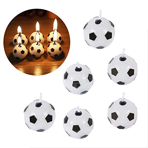- Party Diy Decorations - 2019 6pcs Set Soccer Ball Football Shape Happy Birthday Candle Cake Decorating Soccerfootball - Party Decorations Party Decorations Soccer Uniform Birthday Candl C