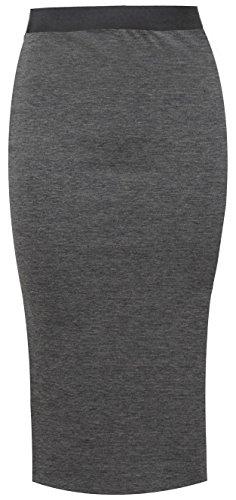 Midi Bodycon Élastique Femmes Lucky 8 Jupes Haute Neuf Jupe Uni Taille Fashion Pour Stretch Bureau Travail Crayon Uqwpx6HIq