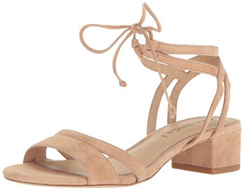Sandal Nude Heel Block Via Taryn Suede Spiga Dress Women's nw6Axqg4S