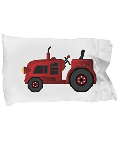 RED TRACTOR CHILDRENS TODDLER PILLOWCASE BEDDING, Kids Construction Farm Farming Equipment Theme Pillow Case, Classic Vintage Gender Neutral Child Bedroom Decor, Check Out Our Many Super Soft Designs