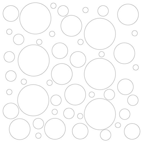 Set of 300 (White) Vinyl Wall Decals - Assorted Polka Dots Stickers - Removable Adhesive Safe on Smooth or Textured Walls - Round Circles - for Nursery, Kids Room, Bathroom Decor