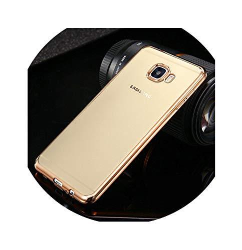 - for Samsung Galaxy J5 Prime Case Clear Transparent Gold Plating Soft TPU Back Cover for Samsung J7 J2 Prime Silicone Cases,Gold,J7 Prime