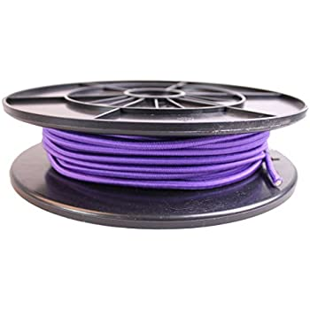 """Cartman 1/8"""" Elastic Cord Crafting Stretch String with Various Colors, 10kg x 100ft, Purple Color"""