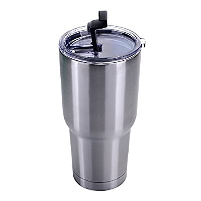 i-Kawachi Spill Proof Splash Resistant Lid for Yeti Rambler Rtic Ozark Trails Tumbler Cup 30 oz