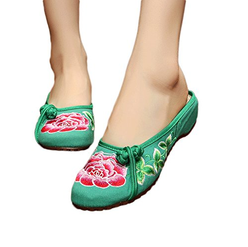AvaCostume Womens Embroidery Summer Slippers