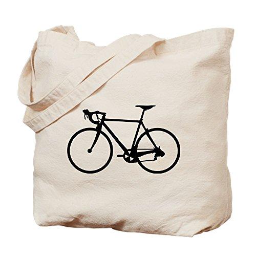 CafePress - Racer Bicycle Black - Natural Canvas Tote Bag, Cloth Shopping Bag (Tote Bicycle)