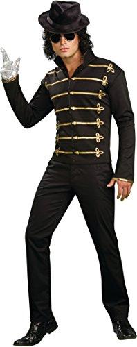Michael Jackson Adult Costume Black Military Jacket - Small