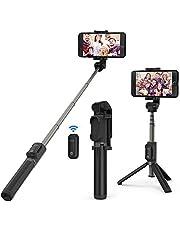 VAVA Perche Selfie Trépied avec Télécommande 2 en 1 Bluetooth 3.0 Extensible jusqu'à 60cm Compatible avec iPhone XS/XS Max/XR/X / 8/7 / 7 Plus / 6 / 6s, Samsung Galaxy S8, Huawei P9, etc.