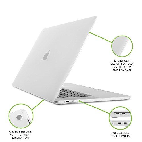 Moshi iGlaze Hardshell Case for Macbook Pro 2016-2017 15'' w/ Touch Bar (Clear) by Moshi (Image #1)