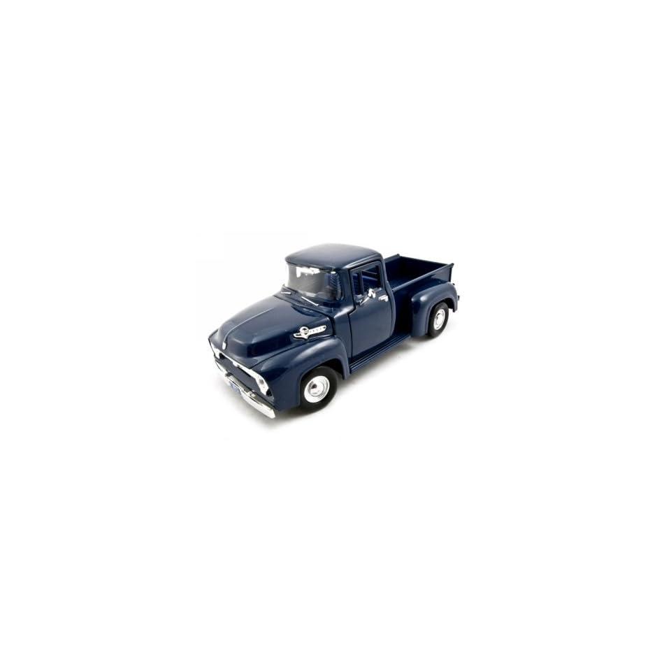 1956 Ford F 100 Pickup Blue 124 Diecast Car Model