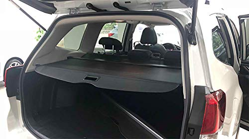 Kaungka Cargo Cover Retractable Compatible for 2019 Subaru Forester Black (There is no Gap Between The Cover and The Back seat)( only fit with Manual Rear gate)