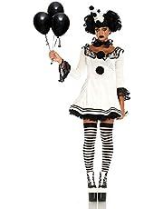 """Leg Avenue 86658"""" Pierrot Clown Kostüm, Weiß/schwarz, Medium (EUR 38/40)"""
