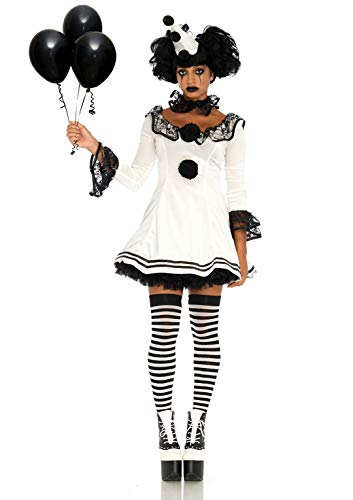 Cute Clown Halloween Costumes (Leg Avenue Women's Costume, White/Black,)