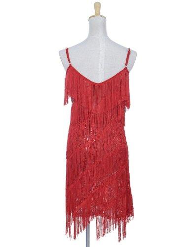 Partito Donna kaci Flapper Cinghia 1920s Rosso Sequin Anna Impero Fringe Backless Del Da Vestito AZ4xw