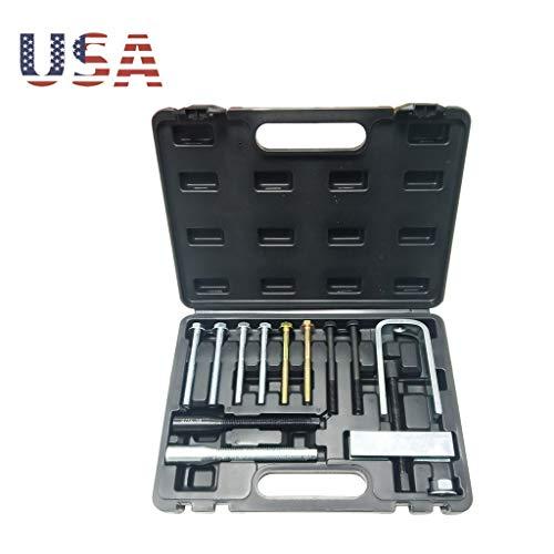Lock Plate Compressor Set - Professional Steering Wheel Remover and Lock Plate Compressor Set -Puller Tool Kit Vehicle Steering Wheel Lock Plate Removal Tool Kit (Silver, Complete Mechanic Tool Kit Set)