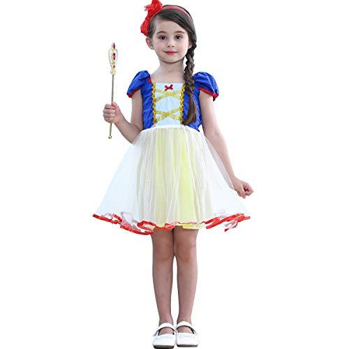 Princess(Snow White,Little Mermaid,Aurora,Cinderella,Rapunzel) Costume for Baby Toddler Girls Birthday (Easy Disney Girl Costumes)