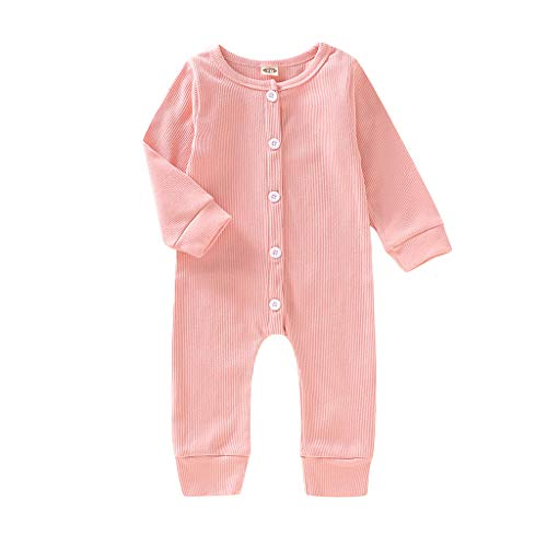 Newborn Toddler Loose Siamese Clothes Cartoon Bear Dress Up Romper Jumpsuit Baby Girl Boy Soft Jumper Outfits Pink