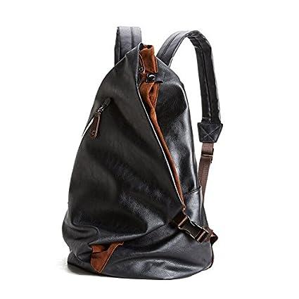 liningfashion marca de hombre macho de piel sintética mochila mochilas escuela bolsas mochila para portátil hombre