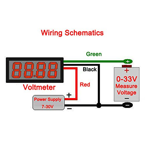 basic motorcycle wiring diagram voltmeter modern design of wiring amazon com drok 0 56 4 digits dc 0 33v led digital voltmeter 12v rh amazon com basic motorcycle wiring diagram honda cb 400 basic chopper wiring diagram