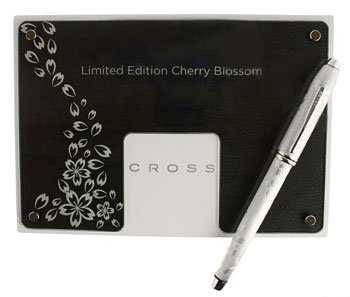 Cross Townsend Cherry Blossom Platinum Limited Edition Selectip Gel Ink Rollerball Pen with numbered Certificate of Authenticity Cross Townsend Platinum Fountain Pen
