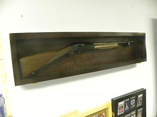 Rifle Gun Display Case gun Case Single RIfle Case wood with an acrylic front (Golden Oak with Green Felt)