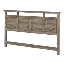 South Shore Furniture Versa Headboard (78'), King, Weathered Oak