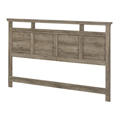 - South Shore Versa Headboard, King 78-Inch, Weathered Oak