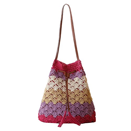 Bags red Woven Hot Leisure Tassel Straw ventes Quality Beach Zhuhaitf Bag Color High Shoulder Womens Striped xHqwZgwKAP