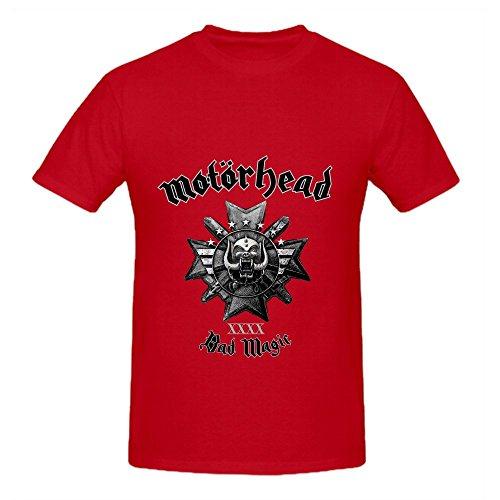 Motorhead Bad Magic Soundtrack Mens Crew Neck Cool T Shirt Red