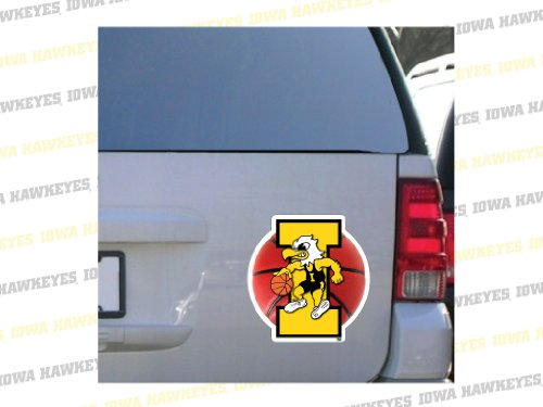"VictoryStore Iowa Hawkeye Car Magnet - Iowa Herky Basketball - 12"" x 12"""
